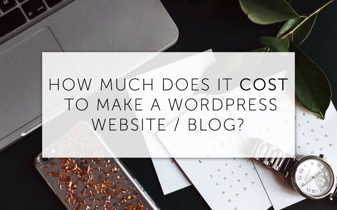 How much does it cost to make a website with WordPress?